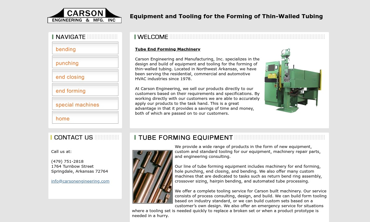 Carson Engineering & Mfg. Inc.
